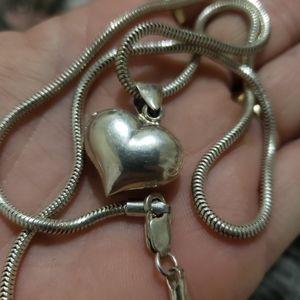Solid sterling locket necklace